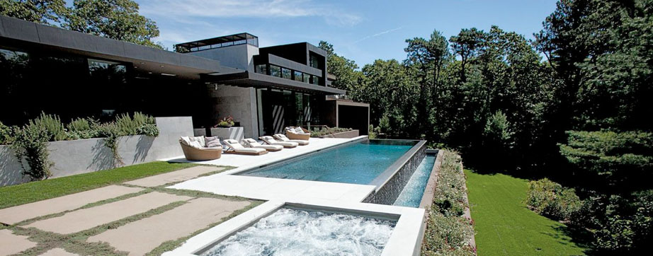 Pristine pools distinctive design functional elegance for Hamptons pool design